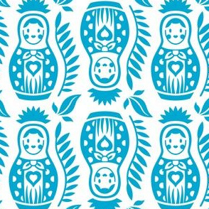 Matrioska Dolls Light Blue