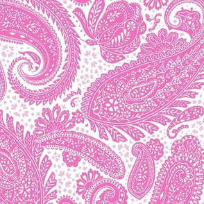 small Paisley Positivity white pinks