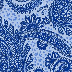 large Paisley Positivity blues