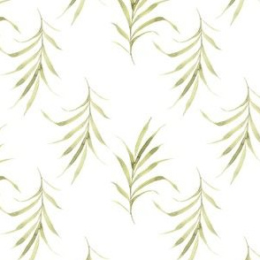 palm frond white |tropical leaves|Renee Davis