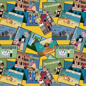 Postcards from the Dachshund Yellow Medium