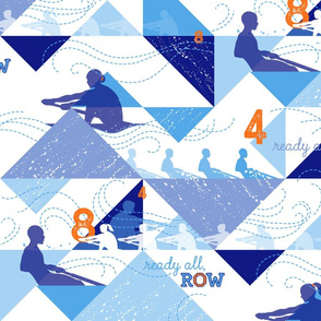 Ready All, Row - Blue with Orange