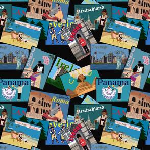 Postcards from the Dachshund Black Medium