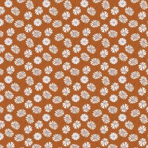 Daisy flower vector pattern illustration floral background