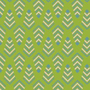 Tribal geometric ethnic rug