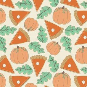 sugar cookies fall pumpkin pie