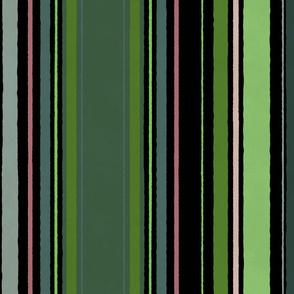 Stripes Tropical Vines (dark)
