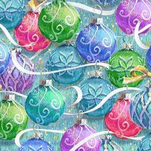 Festive Christmas Balls | Multi on Texture