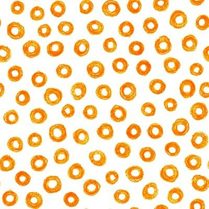 crayon donut polkadots - solar orange