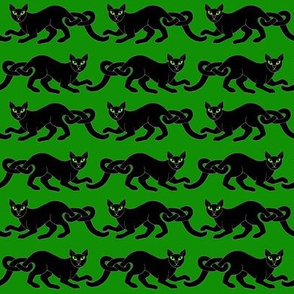 Cat border 1 blk grn