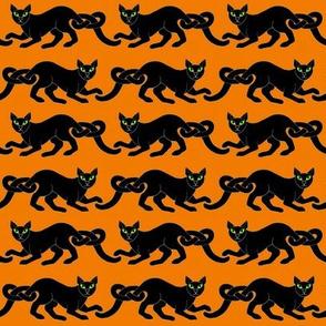 Cat border 1 blk orange