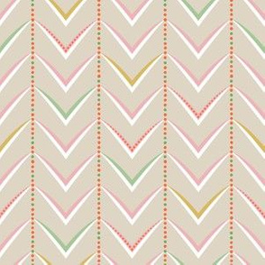 Herringbone Stripe - Multi-Pastel on Stone