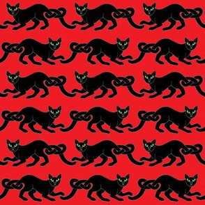 Cat border 1 blk red
