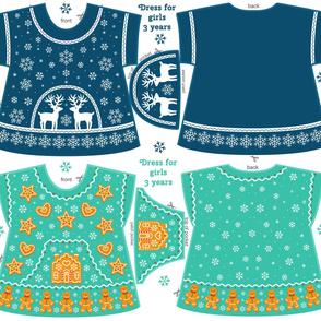 Christmas pattern dresses