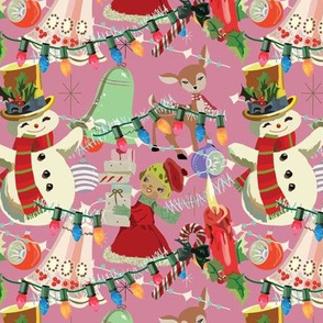 Vintage Christmas Pink