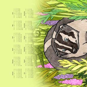 Badger 2021 Calendar Tea Towel