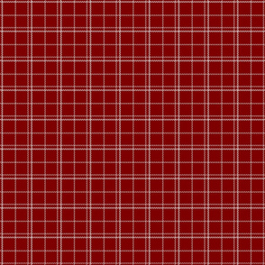 Dark Christmas Candy Apple Red Plaid Check with White