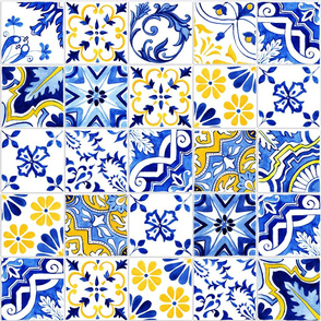 Detailed Azulejos Wallpaper