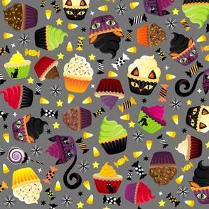 Spooky Kitty Cat Cupcakes Grey