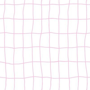 Clumsy pink and white squared pattern