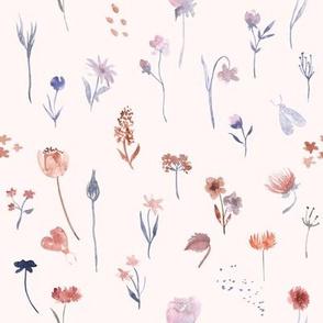 watercolor pastel colors floral pattern
