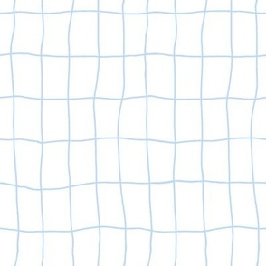 Clumsy blue and white squared pattern