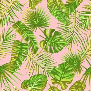 Pink  tropical pattern