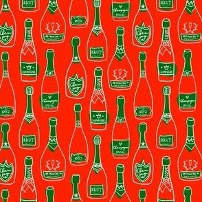 Ladybugs and daisies pattern