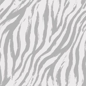 Pastel grey tiger print