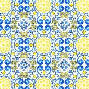 Sunny Floral Azulejos