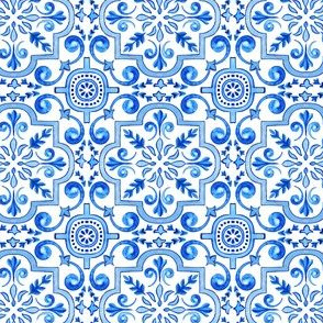 Classic Minimalistic Blue Azulejos