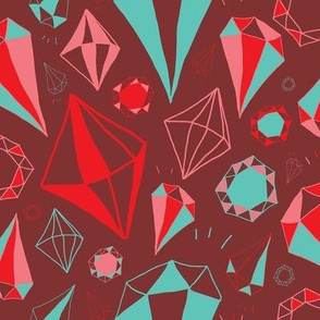 Diamond Heist - Burgundy