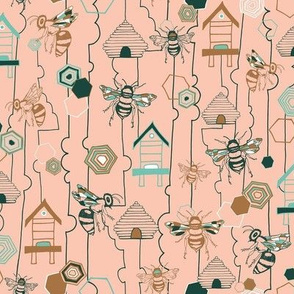 Bee Lines - Blush Pink