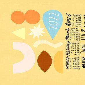 2021 Calendar - Abstract Shapes Sunshine