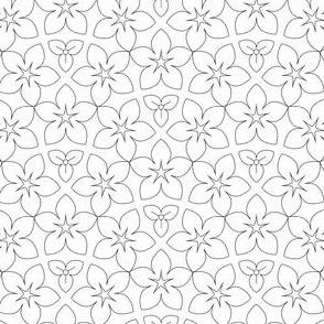 01056095 : U53 flowers : outline