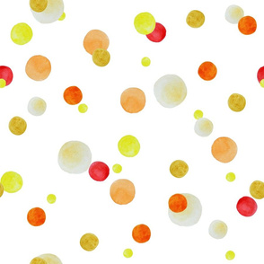 Yellow watercolor polka dot
