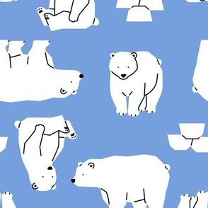 polar bear-blue