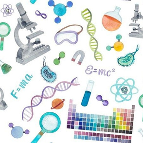 Watercolor Science Doodles