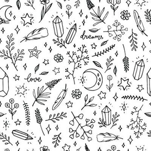 magic doodles on a white background