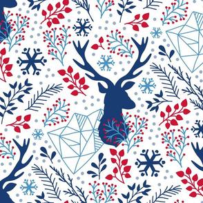 blue deer holidays - modern christmas