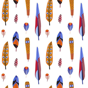 Vintage Bird Feathers
