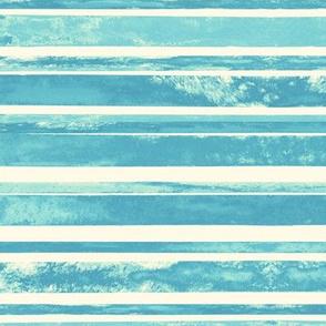 Perfect Cyan Watercolor Stripes