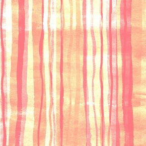 Sparking Sunset Watercolor Stripes