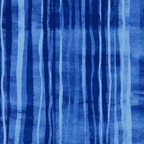 Deep Oceans Watercolor Stripes