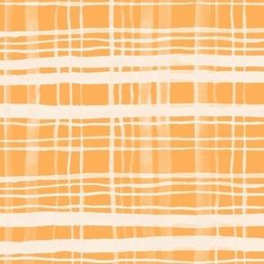 Tangerine & Cream Plaid