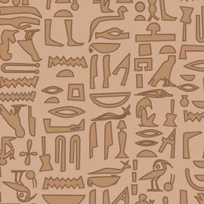 Egyptian Hieroglyphics Browns