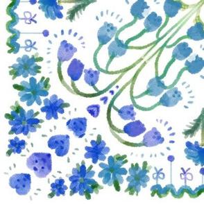 patchwork flower-blue