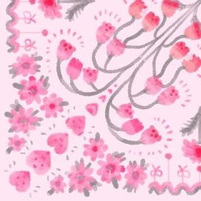 patchwork flower-pink