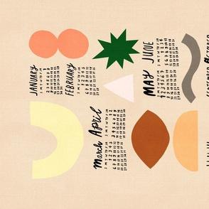 2021 Calendar - Abstract Shapes Terra Cotta