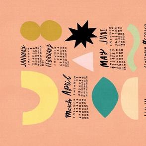 2021 Calendar - Abstract Shapes Mauve